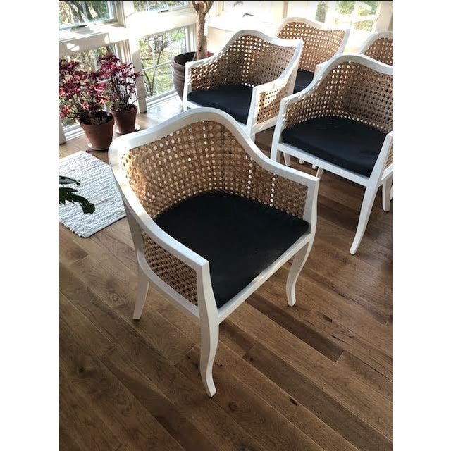 CB2 Tayabas Cane Side Chairs - Set of 6 - Image 3 of 5
