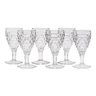 Fostoria Mid-Century Wine Glasses - Set of 6