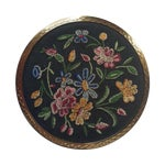 Image of Stratton Embroidered Gold Tone Compact