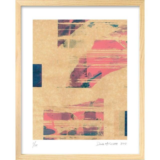 Modern 'Red Meets Blue #18' Framed Print - Image 1 of 4