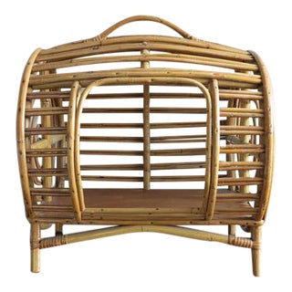 C.1930 Art Deco Abercrombie & Fitch Rattan Bamboo Pet Bed