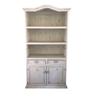Rustic Farmhouse White Painted Hutch