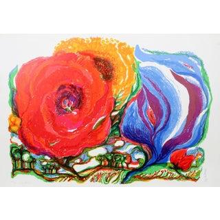 Ronald Julius Christensen, Sky Flowers, Lithograph