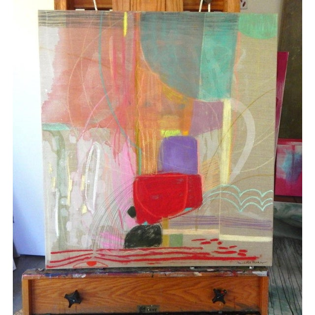 Turn and Slide on Raw Linen by Michelle Armas - Image 2 of 4