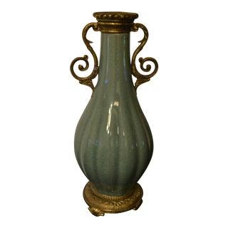 Green Crackle Vase
