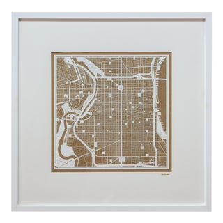 Sarreid LTD Philadelphia Framed Map