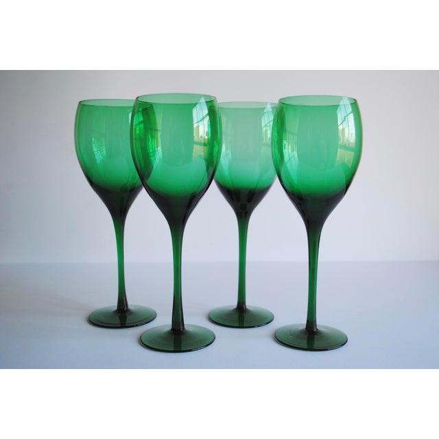 Image of Vintage Long Stemmed Wine Glasses - Set of 4