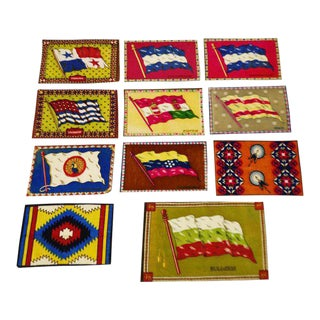 Vintage Flag Tobacco Silks - Set of 11