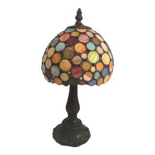 Art Deco Mosaic Slag Glass Lamp