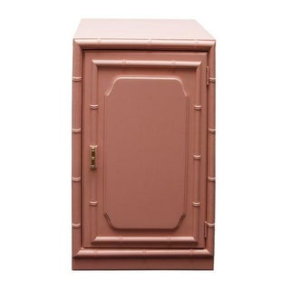 Coral Faux Bamboo Cabinet