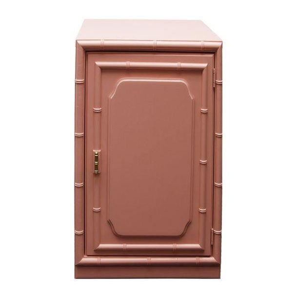 Image of Coral Faux Bamboo Cabinet
