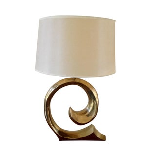 1970's Pierre Cardin Swoosh Table Lamp