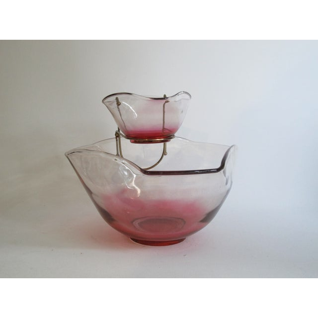 Cranberry Red Chip & Dip Bowl - Image 4 of 8