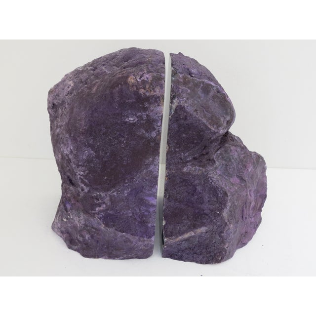Purple gray geode bookends pair chairish - Geode bookends ...