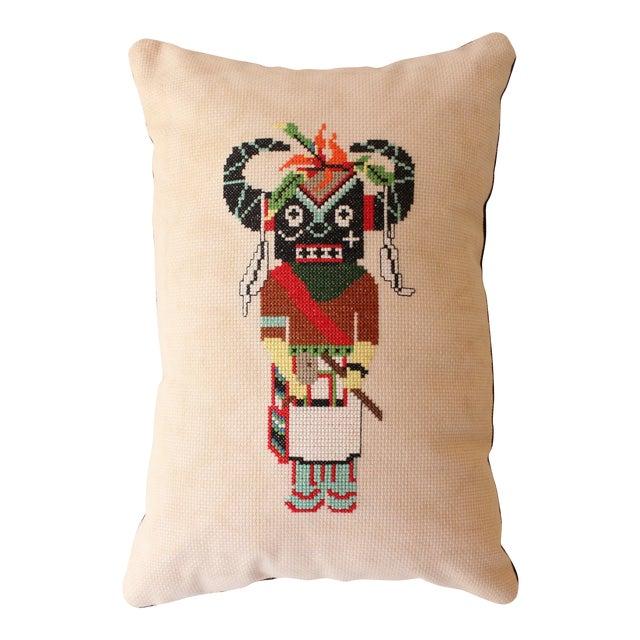 Image of Buffalo Dancer Throw Pillow