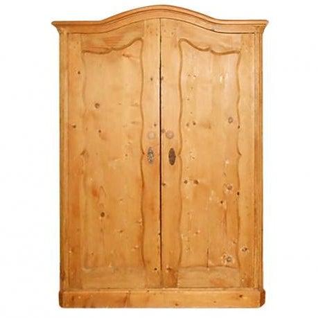 Image of Antique Swedish Pine Wardrobe/Armoire