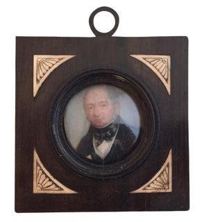 19th-C. Miniature Portrait of a Gentleman