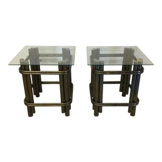 Mastercraft Brass Bamboo Side Tables - A Pair