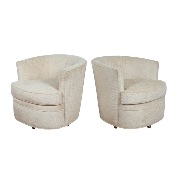 Swivel Vintage Beautiful Chairs - Pair - Image 1 of 10