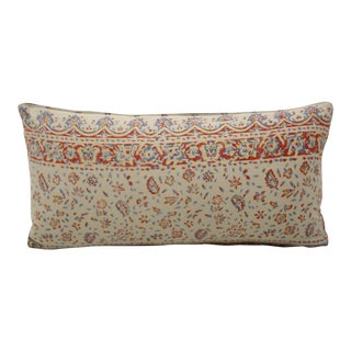 Vintage Persian Block Print Bolster Pillow