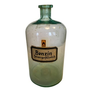 Vintage Pharmacy Benzine Bottle