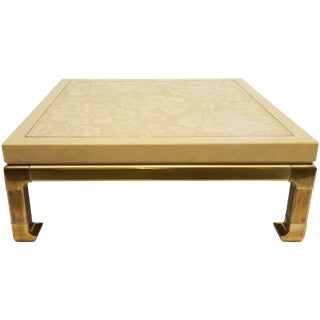 Mastercraft Brass & Lacquer Coffee Table