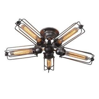 5 Bulb Industrial Ceiling Light