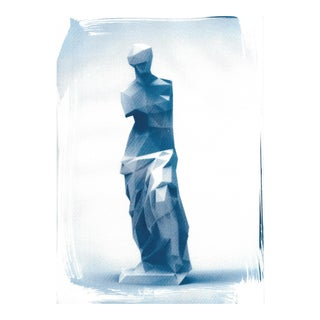 Venus De Milo Low-Poly Sculpture, Cyanotype (Limited Edition)