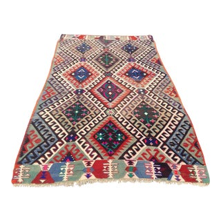 Vintage Turkish Kilim Rug - 5′10″ × 10′5″