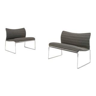 "Pair of Kazuhide Takahama ""saghi"" Lounge Chairs for Gavina, Italy, 1972"