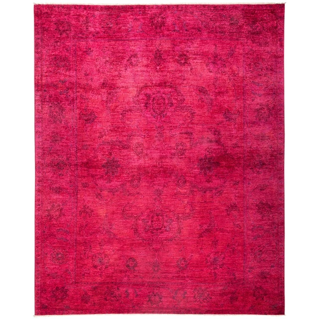 New Over-Dyed Fuchsia Rug - 8′1″ × 10′1″ - Image 1 of 3