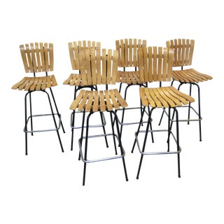 Mid-Century Arthur Umanoff Bar Stools - Set of 6