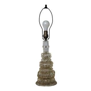 1960s Vintage Graduated Sphere Cut Glass Lamp