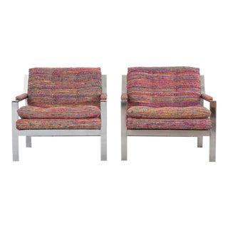 Set of Cy Mann Flat Bar Lounge Chairs