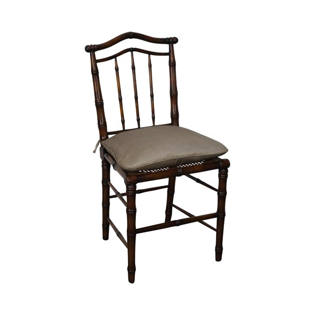 Faux Bamboo & Cane Side Chair - Image 2 of 11