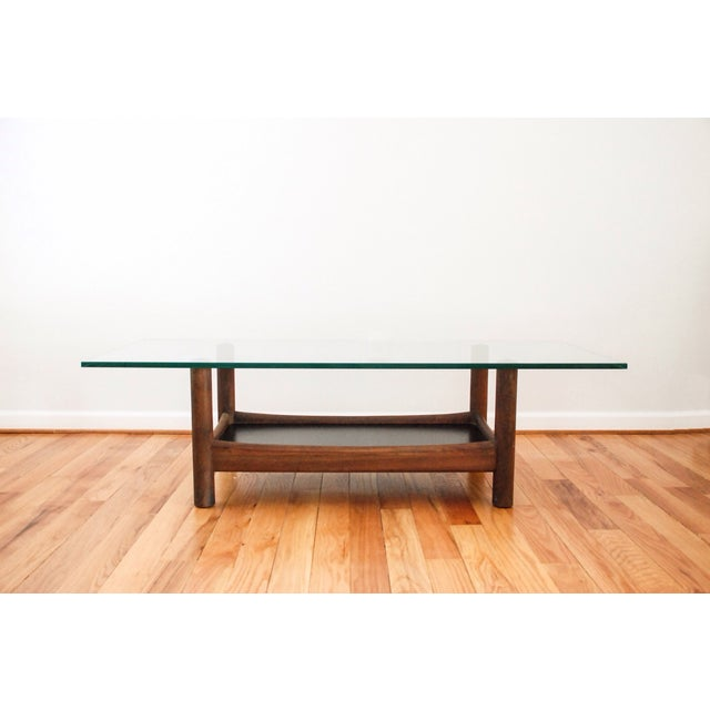 Mid-Century Teak and Glass Coffee Table - Image 2 of 6
