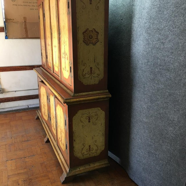 Image of Hand-Painted German Armoire