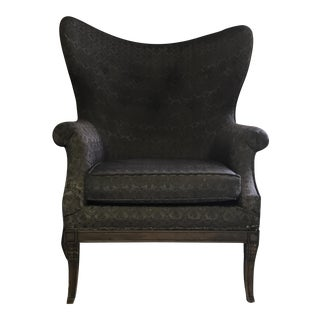 Traditional Antique Wingback Chair