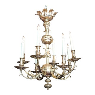 Late 19th C Russian Bronze Doré Chandelier
