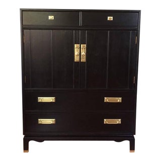 Black Solid Wood Dresser Tallboy Chest