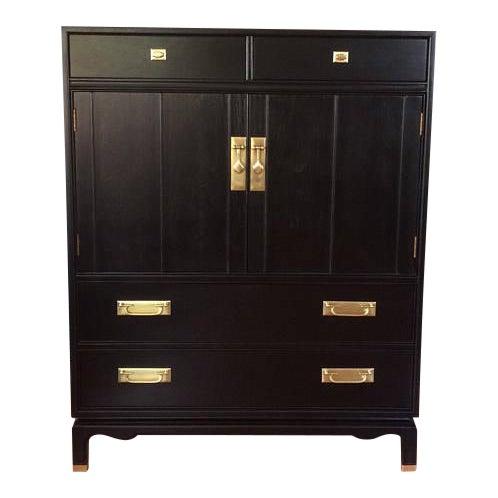 Image of Black Solid Wood Dresser Tallboy Chest