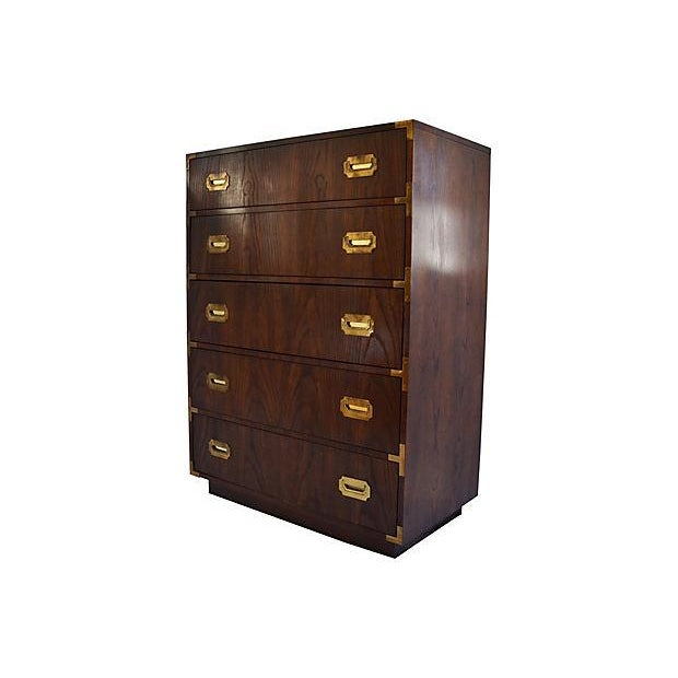 Campaign-Style Highboy Dresser by Dixie - Image 2 of 7