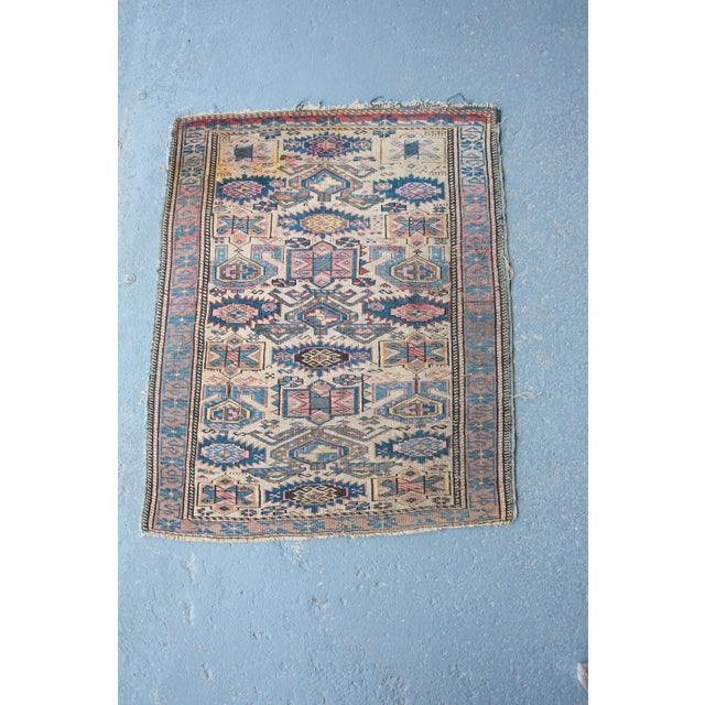 "Antique Caucasian Kuba Rug -- 2'11"" x 3'7"" - Image 2 of 7"