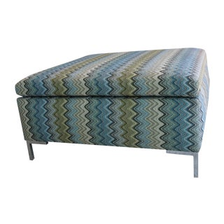 Custom Missoni Fabric Covered Ottoman