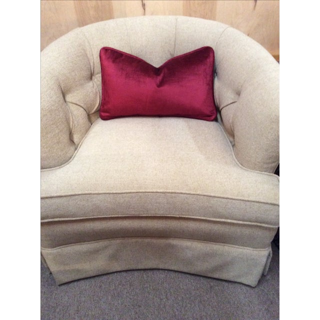 Image of Burgundy Velvet Pillows - A Pair