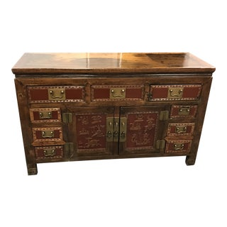 Chinese Wood Nine Drawer Buffet