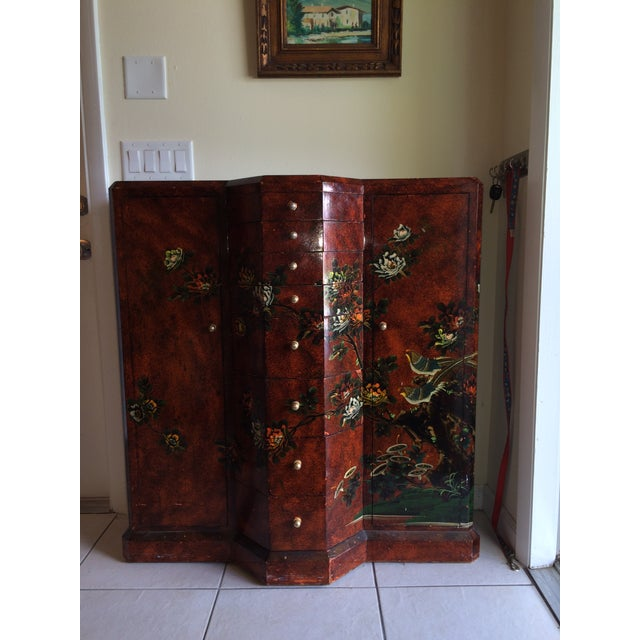 Red Asian Cabinet - Image 2 of 9