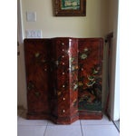 Image of Red Asian Cabinet