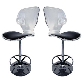 Lucite Bar Stools by Hill Furniture - A Pair