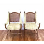 Image of Drexel Vintage Faux Bamboo & Cane Chairs - A Pair